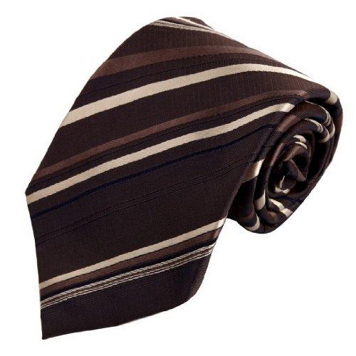 FAA3A4 Beautiful Designer Fashion Stripes Woven Silk Necktie Set By FashionOn