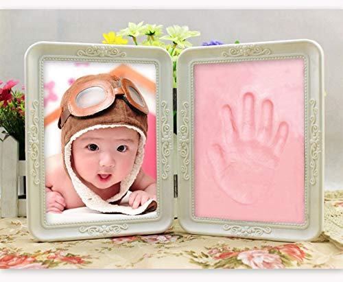 Professional Keepsake Handprint Kit, Desktop Collectction Kids Handprint Footprint Photo Picture Household - Clay Foot, Baby Foot Clay, Handprint Frame, Clay Footprint, Clay Handprint Kit by Unknown