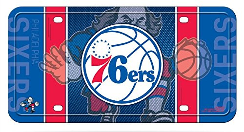 Rico NBA Philadelphia 76ers Metal License Plate Tag