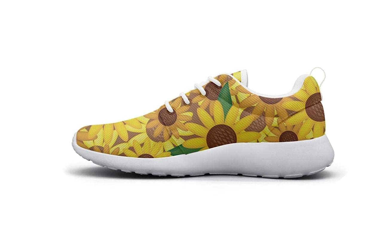 CHALi99 Fashion Female Youth Lightweight Mesh Shoes Beautiful Sunflower Sneakers Running Quick Dry
