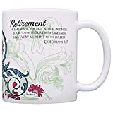 Retirement Gift Ideas Live Every Moment to Fullest Colossians 3:17 Religious Retirement Gifts for Women Gift Coffee Mug Tea Cup Paisley