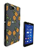 c0094 - Summer Fruit Pineapple Design Sony Xperia Z3 Compact / Mini Fashion Trend CASE Gel Rubber Silicone Protective Case Clear Cover