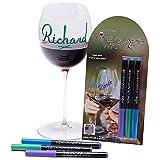 Wine Glass Writer USA-Made Bold Colors