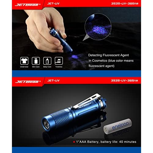 outlet Bundle: JETBeam-UV Flashlight Detection For