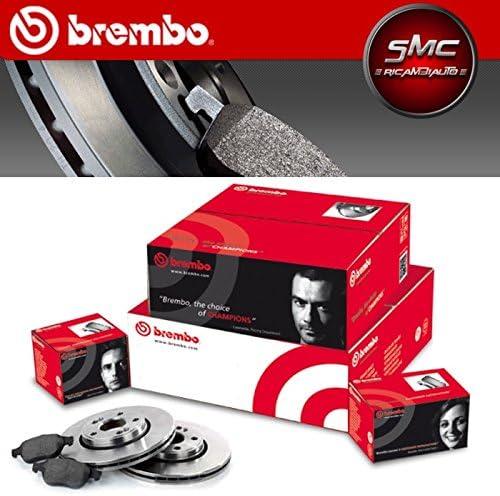 Super Kit Medien und Bremsbel/äge Vorne und Hinten Original Brembo 09.9534.14/ P85084/ P85073 08.8843.20/