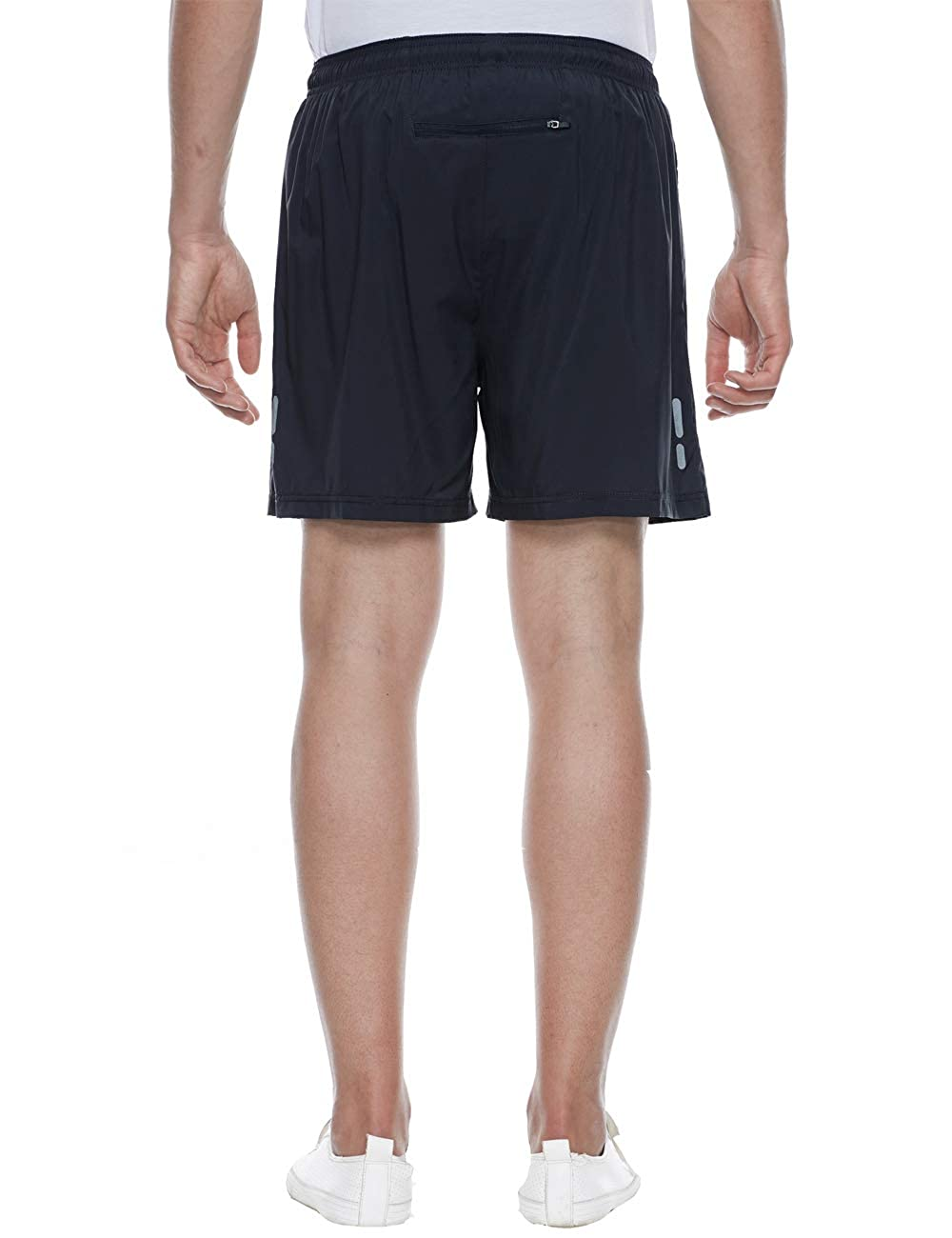 TOPSUN Men 7 Lightweight Quick Dry Running Workout Shorts with Zipper Pockets for Athletic Gym