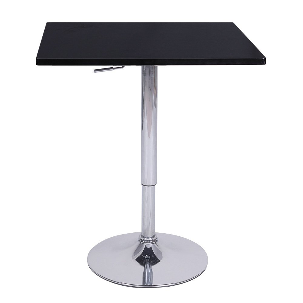 Zeta Contemporary Adjustable Bar Table - Black Licorice