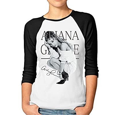 AOLM Women's New Ariana Grande 3/4-Sleeve Raglan T Shirts
