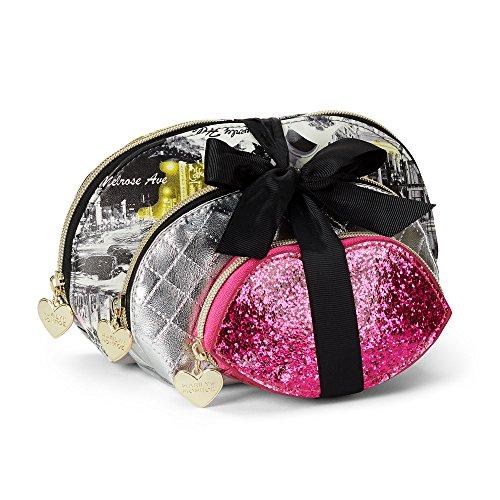 Set of 3 Marilyn Monroe Cosmetic Bags - Metallics by Marilyn Monroe