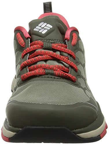 Columbia ATS Trail Fs38 Outdry, Chaussures Multisport Outdoor Femme, Bleu (Cypress/Sunset Red), 41.5 EU
