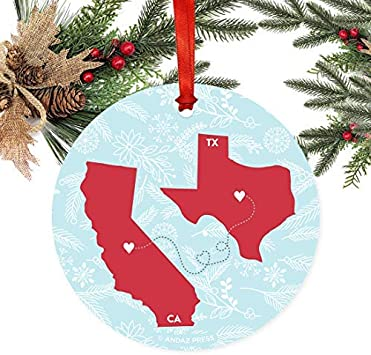 West Virginia State Flag Wood Christmas Tree Holiday Ornament
