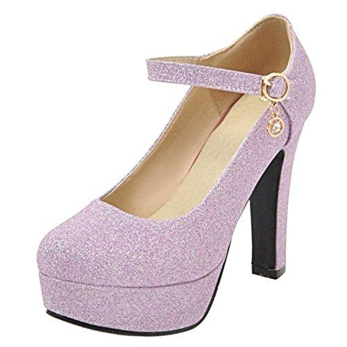 Chaussures à Cheville Escarpins Bride Coolcept Femmes Violet Talons z8qU7EccgF