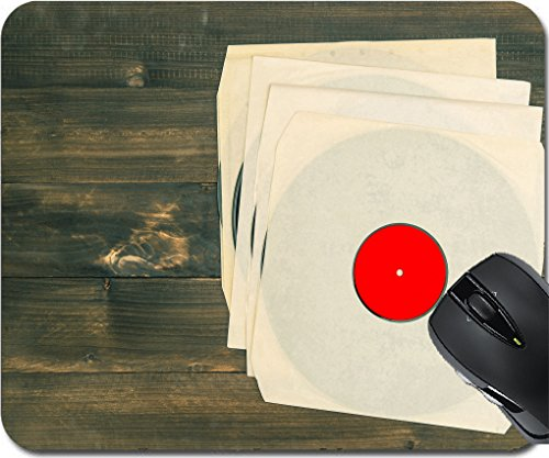 MSD Mousepad Mouse Pads/Mat design 30486654 vintage vinyl records on rustic wooden background nostalgic retro objects - Equipment Depot Pa
