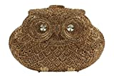 YILONGSHENG Owl Style Diamond Evening Handbags EB0730 Gold