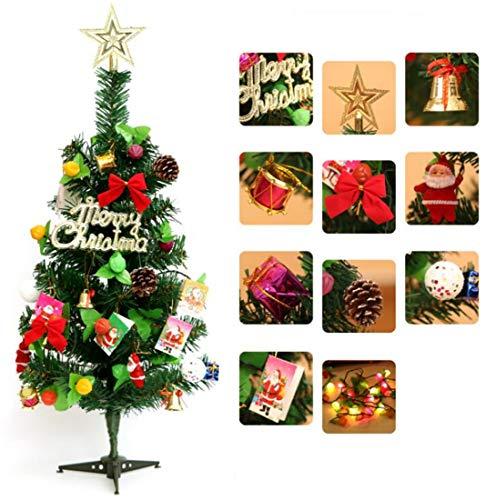SPP PANDA Christmas Tree Christmas Decorations Artificial 60cm Luxury - Plastic Tree Ball Decorations Multi-Colore Shatterproof