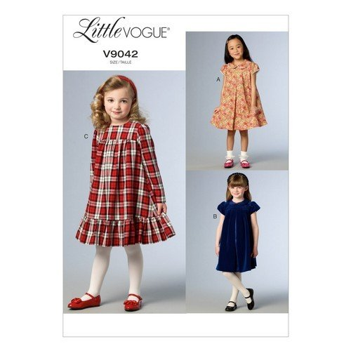 UPC 031664456568, Vogue Patterns V9042 Children's/Girls' Dress Sewing Template, Size CDD (2-3-4-5)