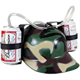 sunshine D Drinking Helmet,Drinking Beer Hat Soda Hat GreatestPAK New Exotic Beer & Soda Guzzler Gift Drinking Straw Hat Toys Great Party Accessory (Camo)