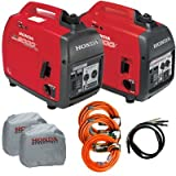 Honda Eu2000 Combo Rv Package 2 Tri Tap Round Extension Cords 1...