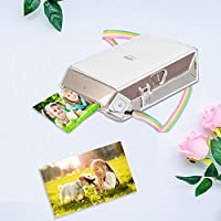 Clear Crystal Hard PVC Cover with Removable Rainbow Shoulder Strap Fintie Protective Clear Case for Fujifilm Instax Share SP-2 Smart Phone Printer