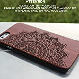 iPhone 6s Case,CoCo Laser Carving Marked Wood Case wooden Case Cover with Durable Polycarbonate Bumper Slim Covering Case for Apple iPhone 6s iPhone 6 (4.7 inch) (Mandala-wood)