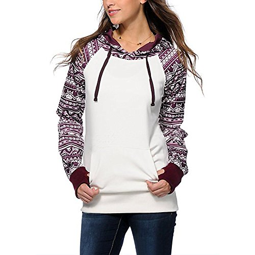 - HYIRI Sweatshirt Pullover Hoodie,Fashion Womens Casual Hooded Coat Outerwear Tops