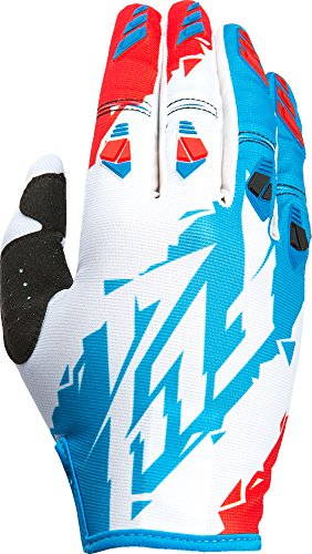 Fly Kinetic Gloves - Fly Racing Unisex-Adult Kinetic Gloves (Red/White/Blue, Size 10/Large)