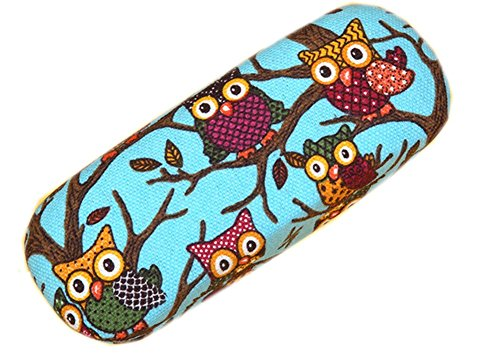 Lesirit Hard Shell Eyeglass Case Print Eyeglass Protective Case Glasses Holder Cartoon Elephant