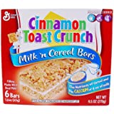 Cinnamon Toast Crunch Milk N' Cereal Bars, 9.5 Ounce Package (Pack of 2)