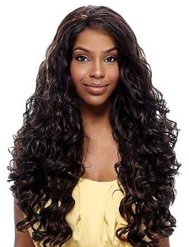 Fácil y forma cómoda y pelucas pelo europeo 24 inch bonitas de onda High Temperature Punta