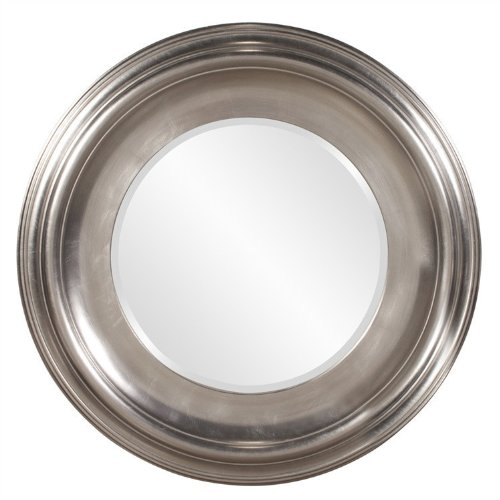 Howard Elliott Christian Round Silver Mirror by Howard Elliott Collection