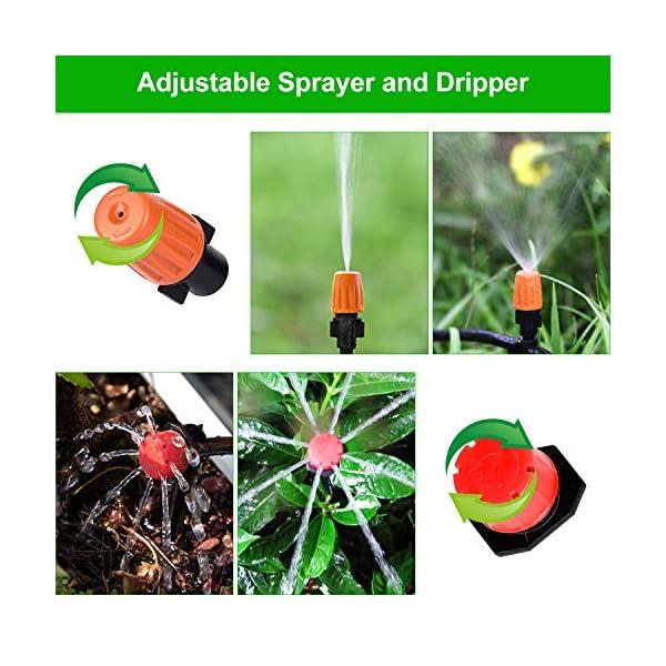Tencoz Kit di irrigazione a Goccia, 30m Set di Irrigazione Regolabile Sistema di Irrigazione da Giardino DIY Kit di… 2 spesavip