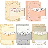 20 Pcs Lined Kawaii Cartoon Animal Writing Stationery with 10 Pcs Envelopes and 10 seal stickers Set for Writing Letters Cute Japanese Stationery Writing Paper by SHXSTORE