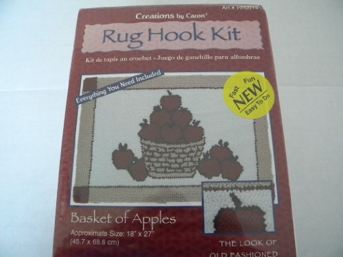 Caron Rug Kits - Caron Rug Hook Kit Basket of Apples --18