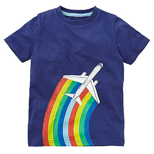 Hongshilian Kids' Cotton Striped Tee