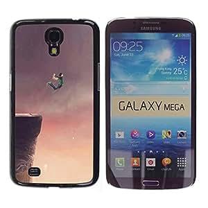 Be Good Phone Accessory // Dura Cáscara cubierta Protectora Caso Carcasa Funda de Protección para Samsung Galaxy Mega 6.3 I9200 SGH-i527 // Flying Dream Cliff Jump Base Drawing Art