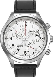 e473216a4 Timex Men's T2N701 Intelligent Quartz SL Series Fly-Back Chronograph Black  Leather Strap Watch (B0053EXKVE) | Amazon price tracker / tracking, Amazon  price ...