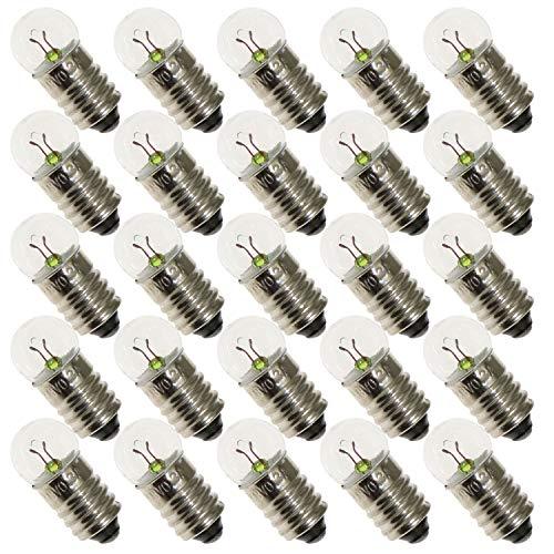 (ToToT 25pcs E10 Mini Light Bulbs 3.8V 0.3A Physical Electrical Experiment Screw Base Indicator Light Incandescent Bulb Old-Fashioned Flashlight Lamp)