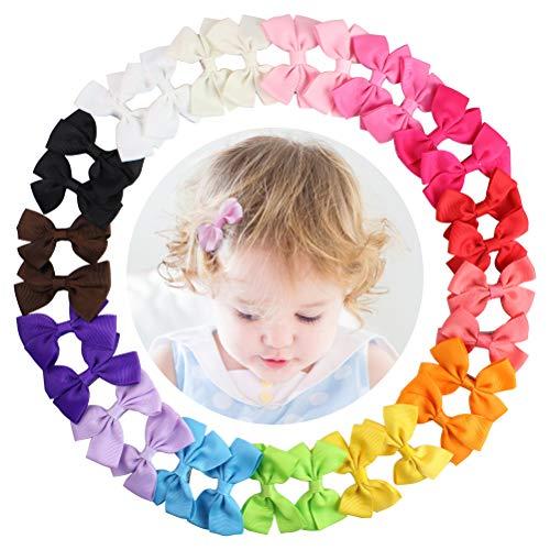 HBF 30 Piezas Lazos Pelo Nina Bebe Cinta Lazo 15 Colores Pinzas Para El Pelo Bebe Accesorio Para El Pelo