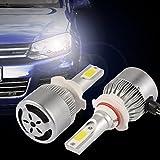 XCSOURCE 2pcs 10000LM 55W LED Car Headlight 9005 H10 HB3 Halogen HID Xenon Lamp Bulb Built-in Cooling Fan 6000K White LD1008