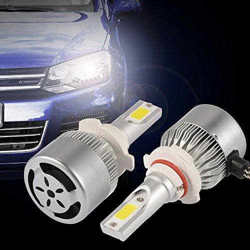XCSOURCE 2pcs 10000LM 55W LED Car Headlight 9005 H10 HB3 Halogen HID Xenon Lamp Bulb Built-in Cooling Fan 6000K White LD1008