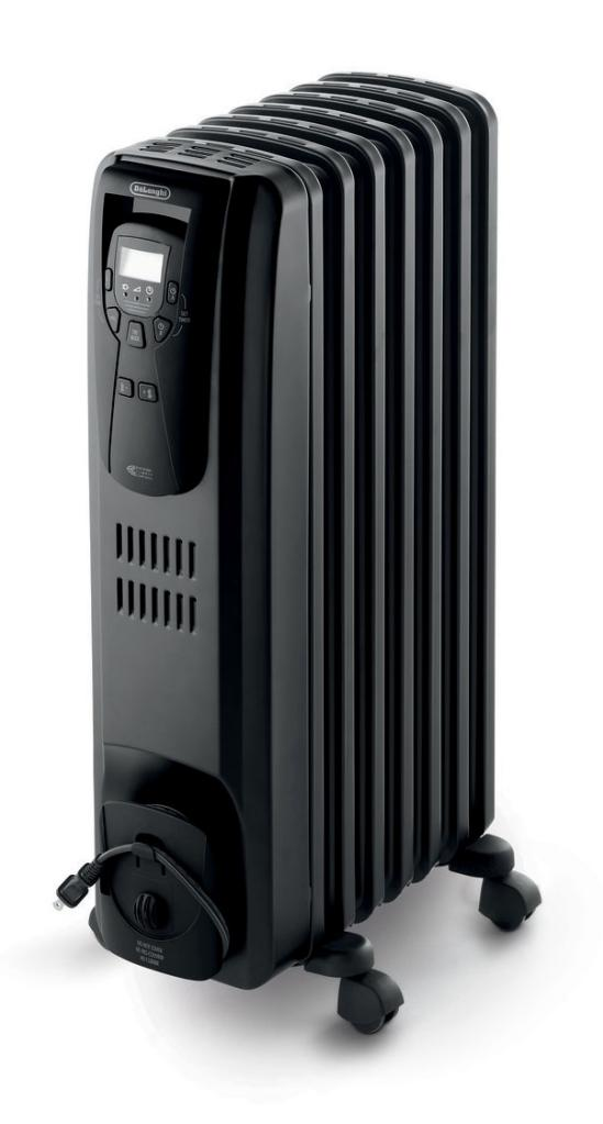 delonghi ew7507eb oil filled radiator heater. Black Bedroom Furniture Sets. Home Design Ideas