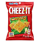 Cheez-It Baked Snack Cheese Crackers, Hot & Spicy, Grab 'N' Go, 3 oz Box(Pack of 36)