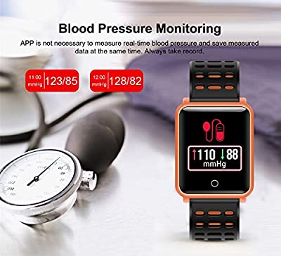 """1.3"""" TF2 HD Screen Sport Fitness Tracker with Blood Pressure Heart Rate Monitor IP68 Waterproof Pedometer Stopwatch Smartwatch for Kid Men Women Wristband Swim Run Travel Activity Tracker iOS Android"""