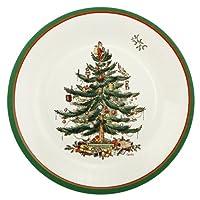 CR Gibson Christmas Tree - Platos de papel para postres /postre Spode de 8 pulgadas, paquete de 8