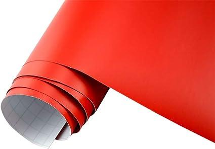 Neoxxim 21 20 M2 Premium Auto Folie Rot Matt 50 X 150 Cm Blasenfrei Mit Luftkanälen Ca 0 15mm Dick Folierung Folieren Bekleben Küche Haushalt