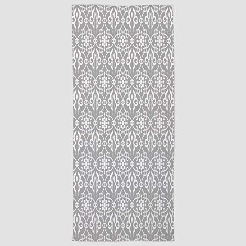 iPrint Cotton Microfiber Hand Towel [ Irish,Royal Antique Floral Figures Curves Old Fashioned Elegance Ancient Folksy Tile,Grey and White ] for Hotel SPA Beach Pool Bath