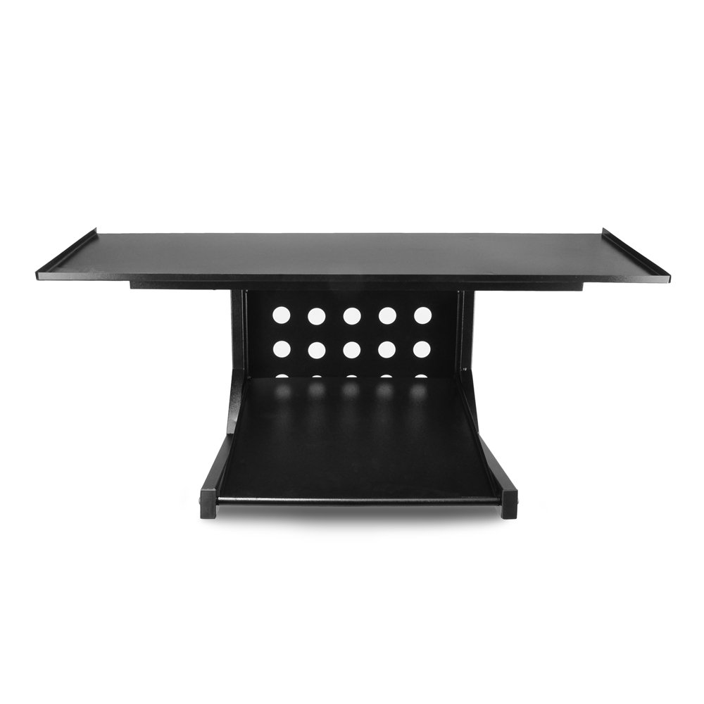 Gaming and Home Use Workstation Adjustable Height and Ergonomic Design for DJ Mixer PLPTS45 Pyle Portable Dual Laptop Stand Universal Standing Table Holder with Bracket Arms Sound Equipment