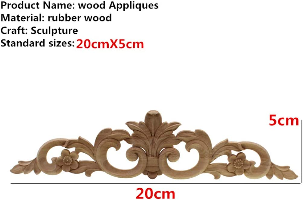 Unpainted Hollow Pattern Corner Wood Applique Frame Onlay Home Furniture Wall Cabinet Door Decal Crafts Home Decorations