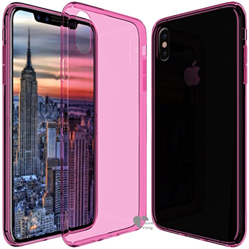 iPhone X Case,iPhone X cover Love Ying [Crystal Clear] Ultra[Slim Thin][Anti-Scratches]Flexible TPU Gel Rubber Soft Skin Silicone Protective Case Cover for Apple iPhone (Iphone Silicone Rubber Skin Cover)