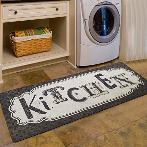 USTIDE Vintage Kitchen Runner Antique Style Chef Mat Retainer Floor Mat Rug Durable Non-Slip Doormat,1pc